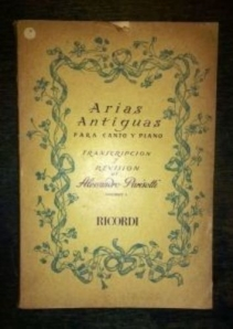 Arias Antiguas para Canto y Piano Vol. 1